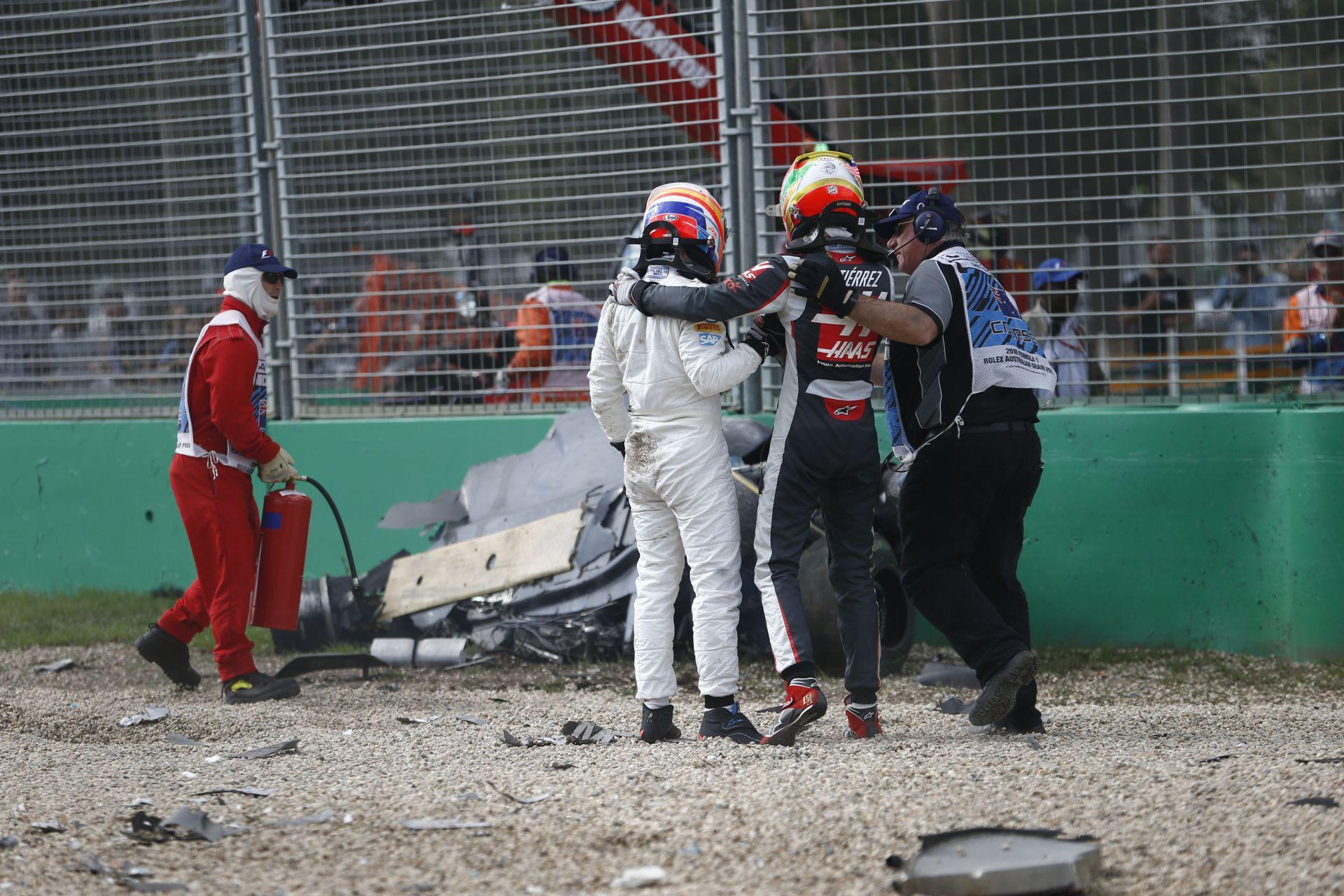 Alonso és Gutierrez balesete szuperlassításban! Minden részletet megfigyelhetünk!