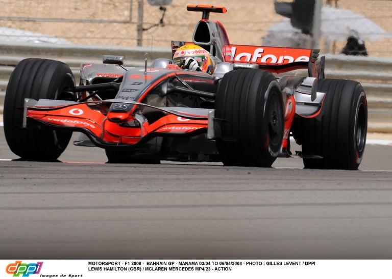 Hamilton becsapódása 2008-ból: Bahreini Nagydíj