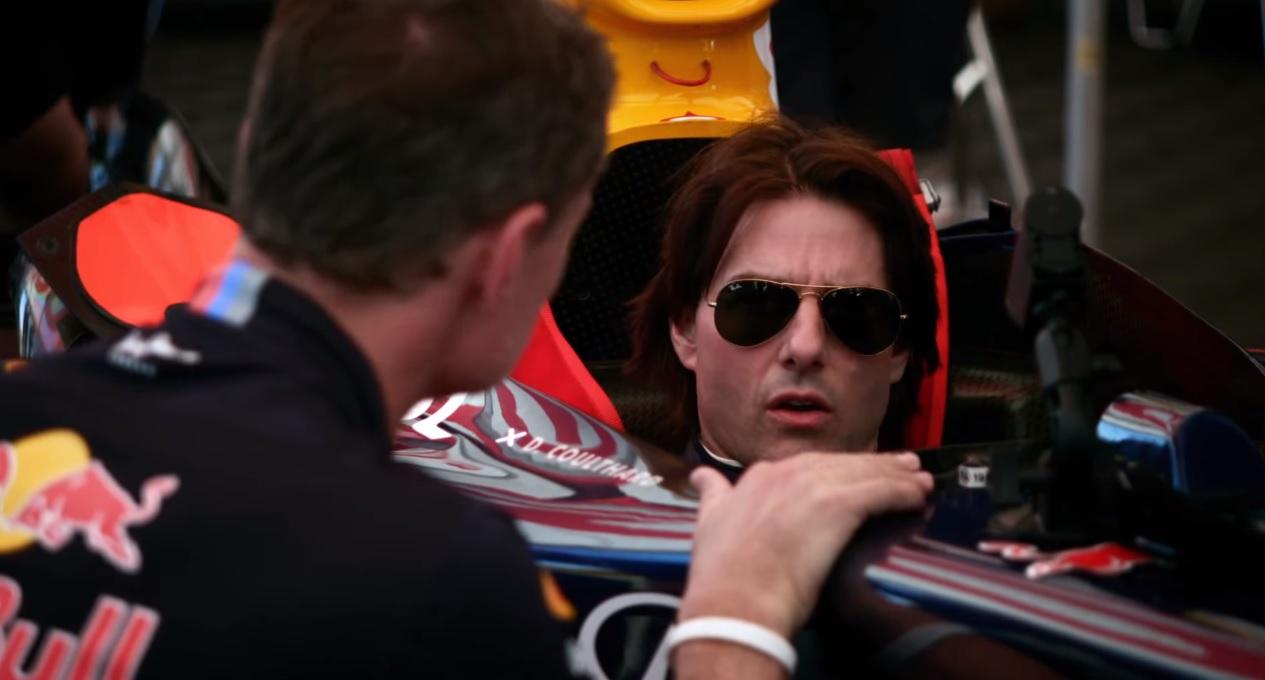Tom Cruise egy F1-es autóban: ez még neki is tetszett