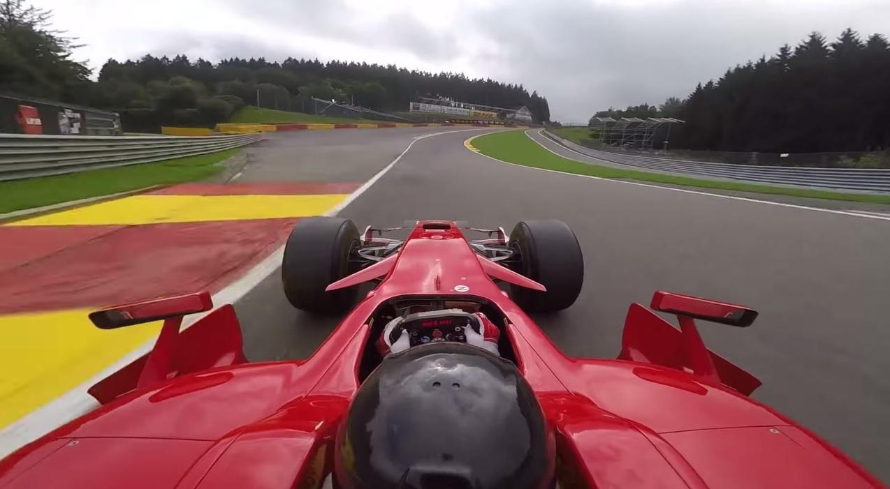 Egy fantasztikus onboard felvétel: Kimi 2008-as Ferrarijával napjainkban Spa-ban