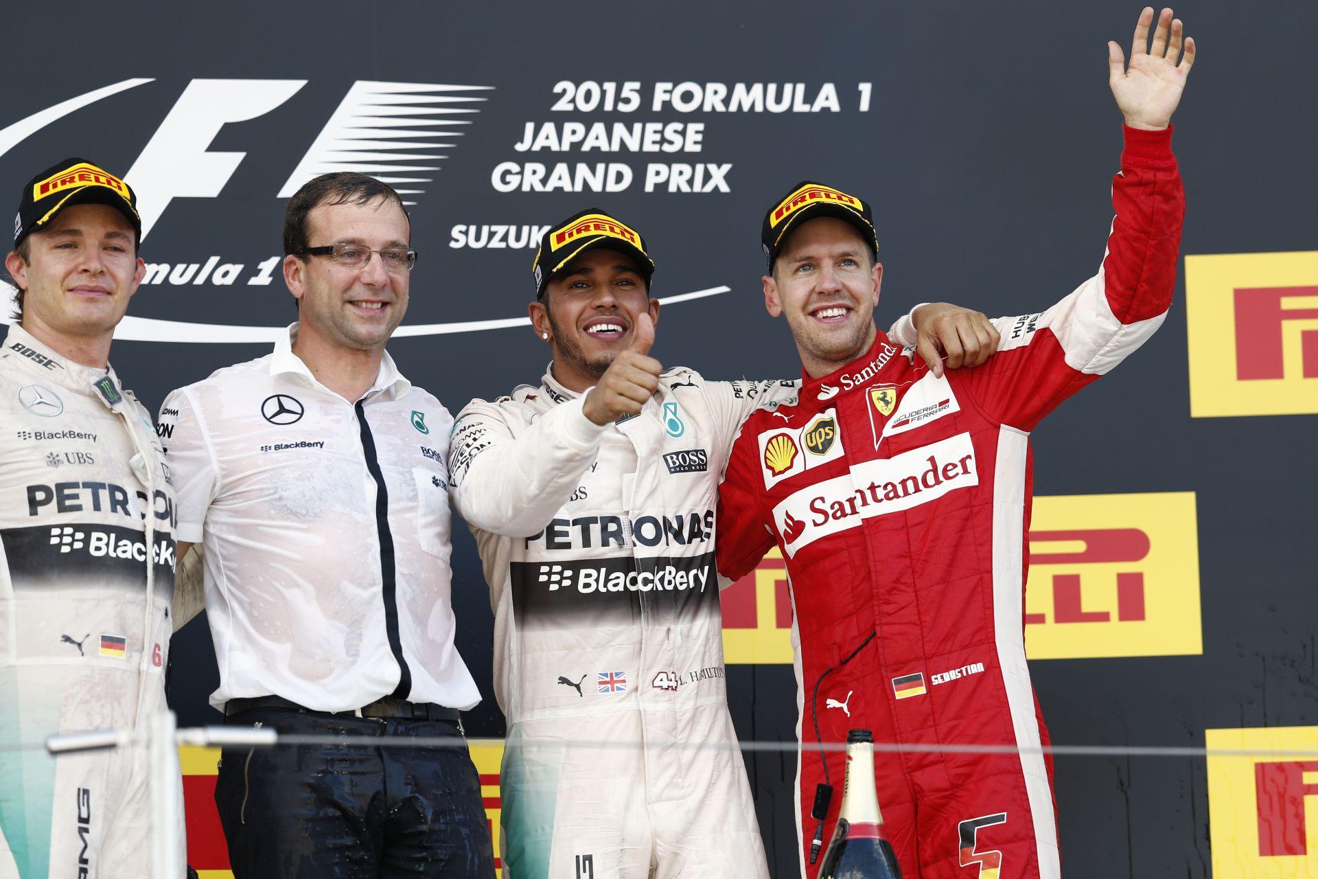Így tette le Suzukában a kézlenyomatát Vettel, Hamilton és Rosberg: Japán Nagydíj