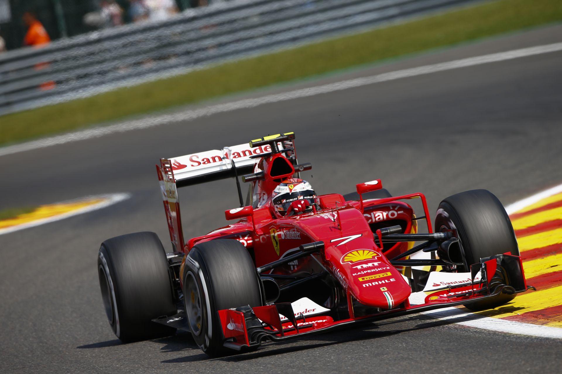 Räikkönen tudja, hogy Spában is ugyanannyi pontot osztanak, mint a többi futamon
