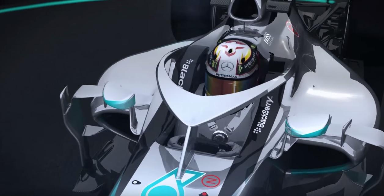 Videón a Mercedes megoldása a félig zárt pilótafülkére