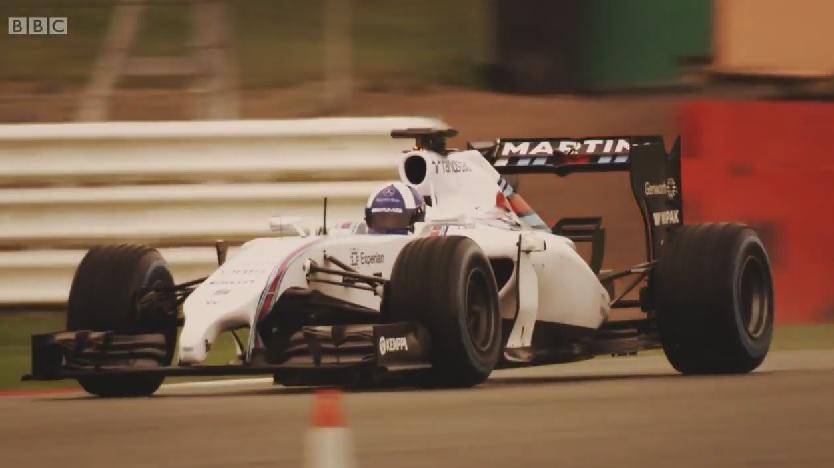 """David Coulthard """"visszatért"""" és pályára vitte a Williams 2014-es versenygépét"""