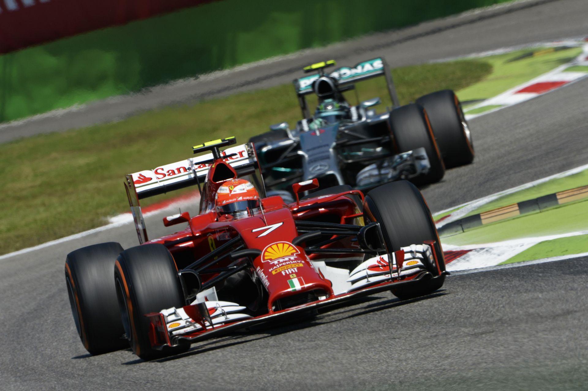 Így vezeti Raikkönen a 2014-es Ferrarit Monzában