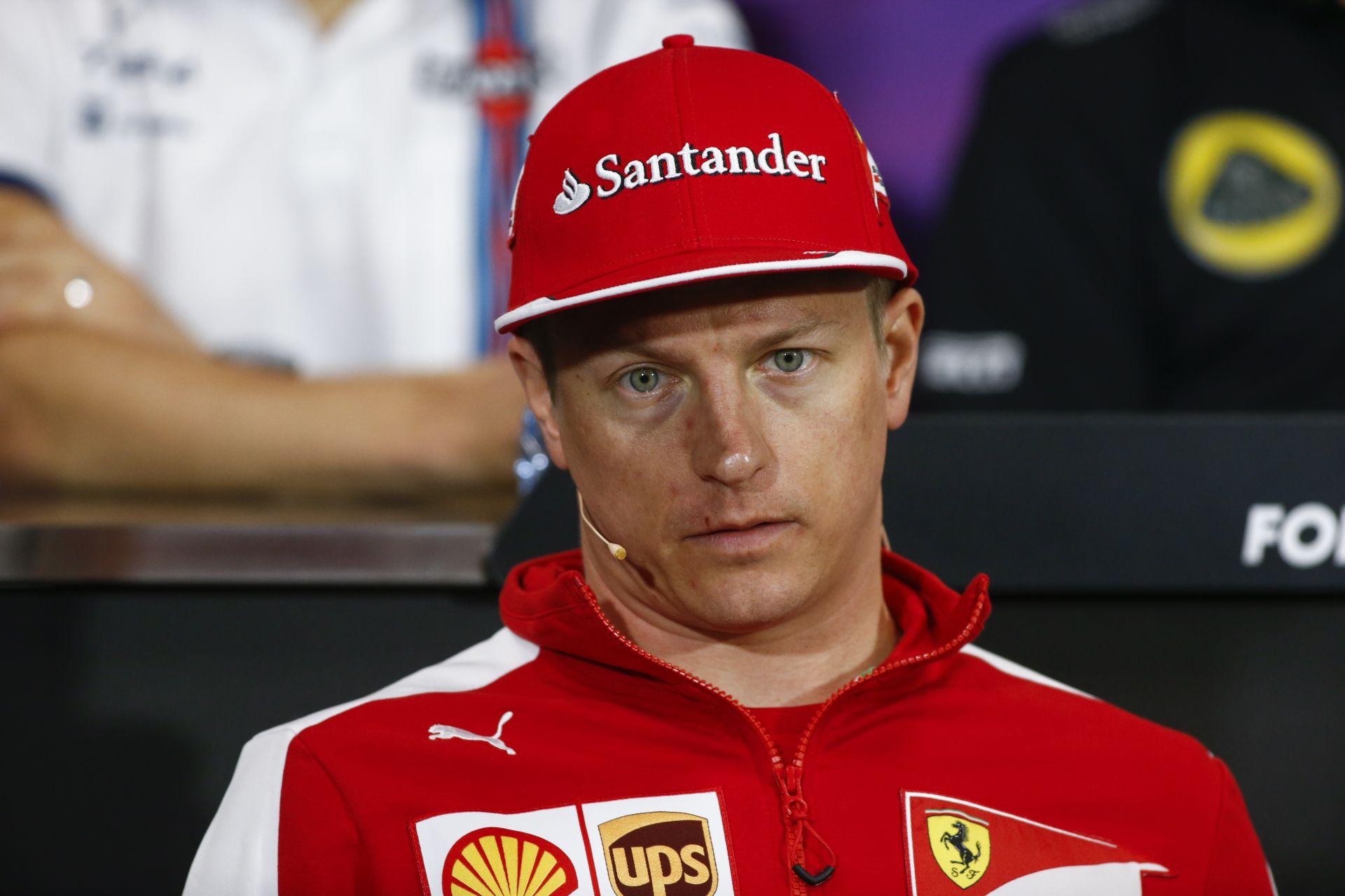 Raikkönen keményen beszólt az újságírónak, és jelezte, a Ferrari lesz az utolsó csapata