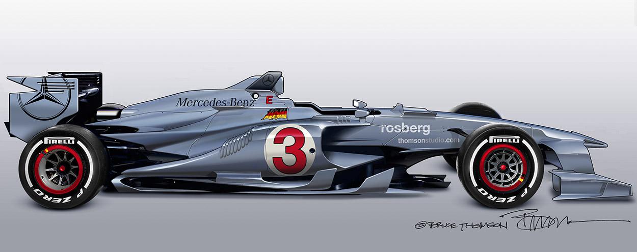 Ez lehetne a jövő autója a Forma-1-ben: A brutális Mercedes