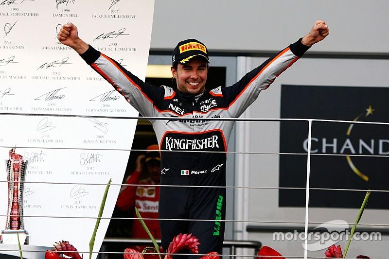 """Sergio Perez votato """"Driver of the Day"""" di Baku"""