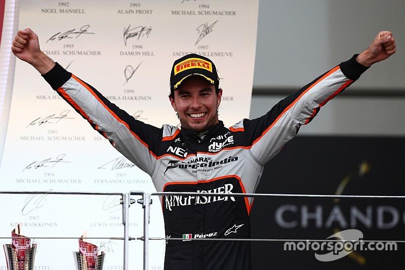 بيريز يحصل على جائزة سائق اليوم في باكو