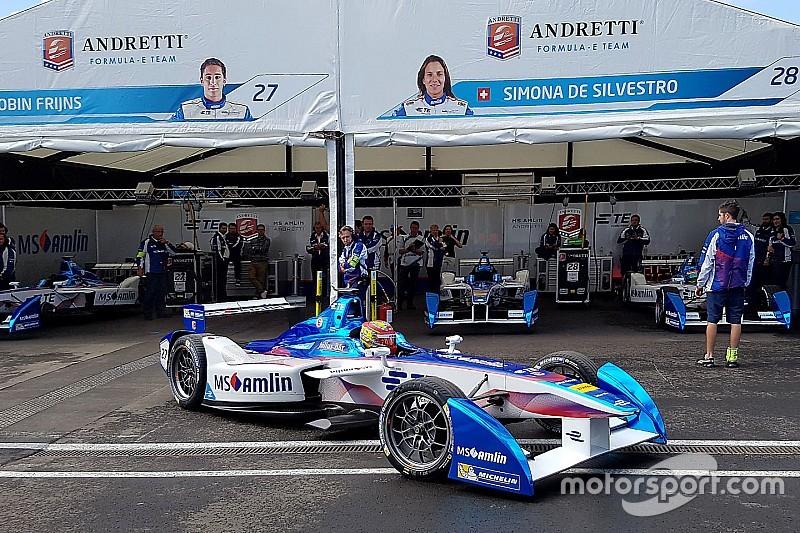 Formule E Londen: Frijns maakt in eerste training kennis met de muur