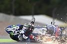 Bildergalerie: Die Stürze von Bradl und Lorenzo bei MotoGP am Sachsenring