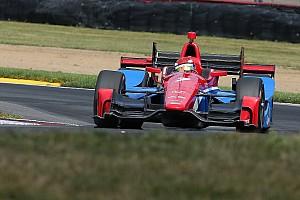 IndyCar Reporte de prácticas Aleshin manda en una práctica accidentada en Pocono