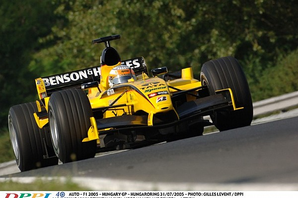 A V10-es Jordan a Hungaroringen: ennél hangosabb F1-es gép nem volt!