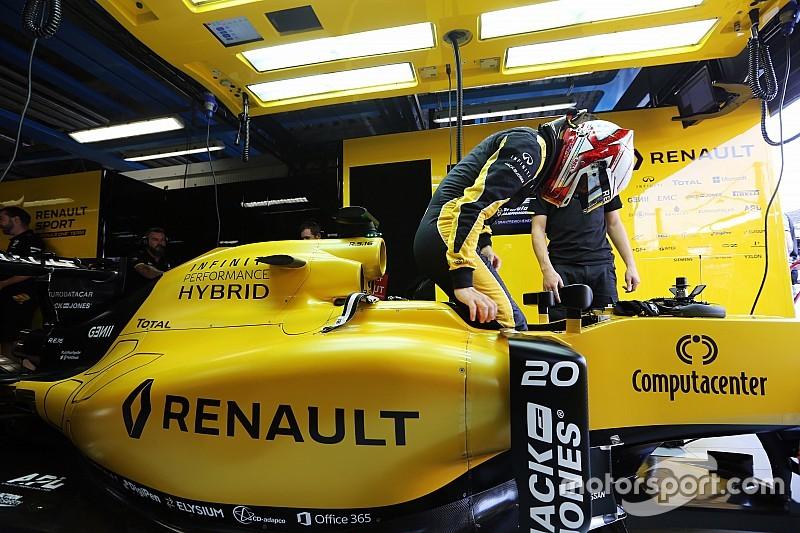Renault recuperó el motor de Magnussen del accidente en Spa
