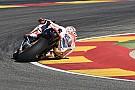 Marquez schrijft ook warm-up GP Aragon op zijn naam, crash Lorenzo
