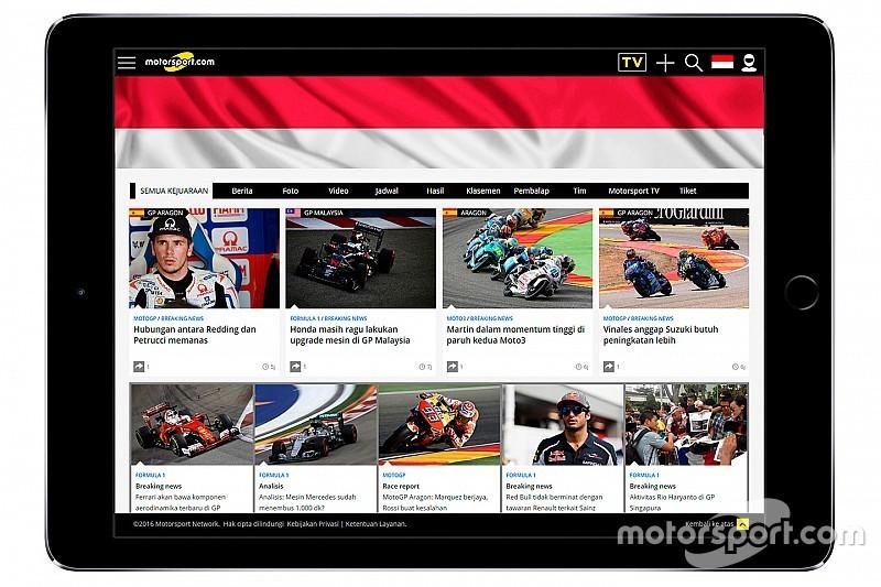 Motorsport.com espande il numero globale dei suoi lettori e lancia Motorsport.com - INDONESIA
