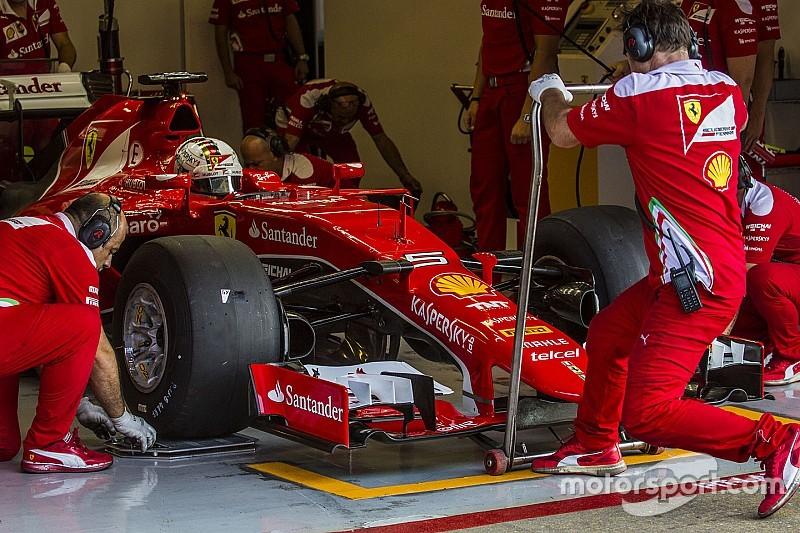 Los coches de los test no reflejan el downforce de 2017, dice Vettel