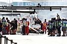 Un incendio en el Renault provocó la bandera roja en los libres 1