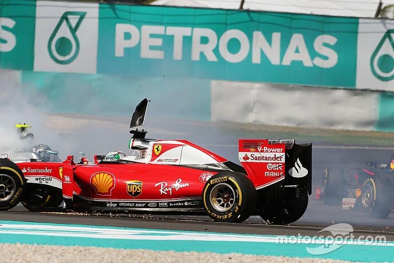 """Vettel investigado por su """"alocado"""" accidente"""