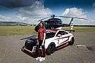 Keszthelyi Vivien és Audis társai helikopterrel a DTM-sajtótájékoztatón és az azt követő felvonuláson