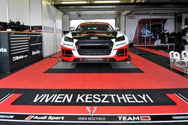 Utoljára látható Magyarországon Keszthelyi Vivien az Audi TT Cup versenyautóval