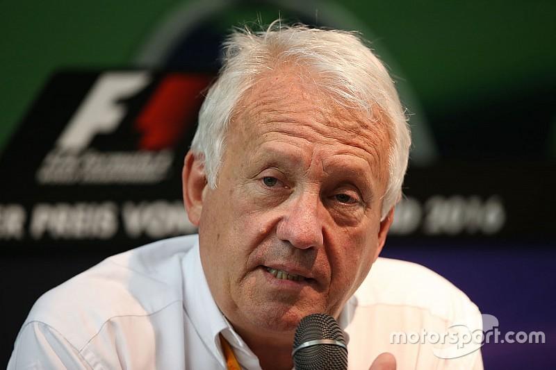 Whiting à la conférence de presse des pilotes pour évoquer le GP du Mexique