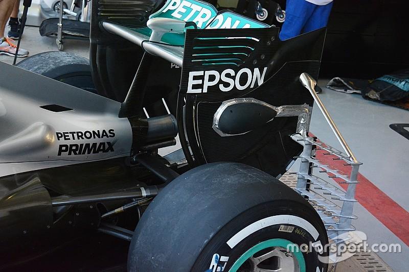 Technique - Tubes de Pitot sur la Mercedes de Hamilton
