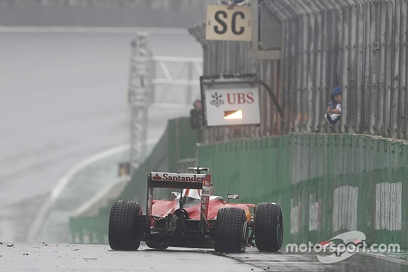 Grosjean culpa a los neumáticos de lluvia por su accidente