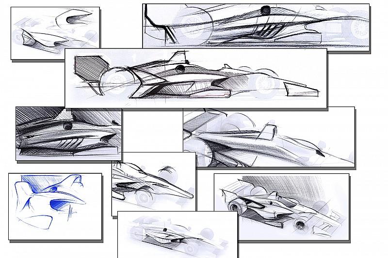 L'IndyCar dévoile des premiers dessins de sa voiture 2018