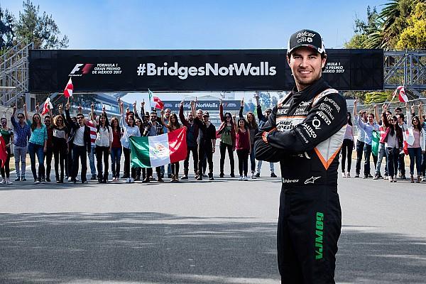 Pérez respalda una campaña del GP de México contra el muro de Trump