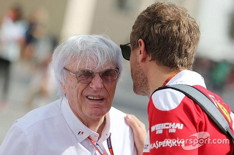 """Ecclestone: """"Sería bueno para la F1 que Vettel fuera campeón"""""""