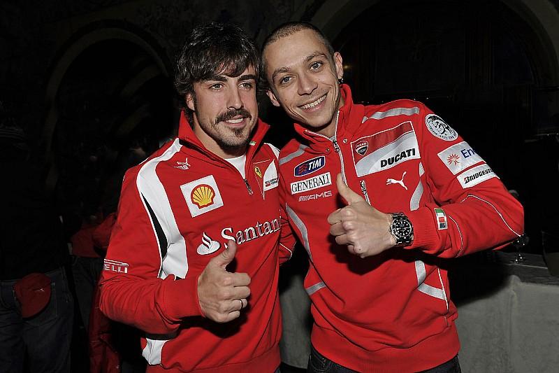 """Rossi: """"Que Alonso gane las 500 Millas, ¿por qué no?"""""""
