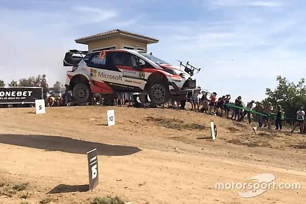 VIDEO: coche del WRC choca con un dron