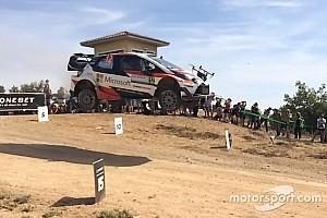 WRC Noticias de última hora VIDEO: coche del WRC choca con un dron