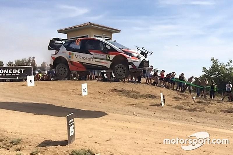 VIDEO: coche del WRC choca con un dron