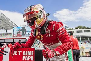 FIA F2 Noticias de última hora El especial homenaje de Leclerc a su padre recién fallecido