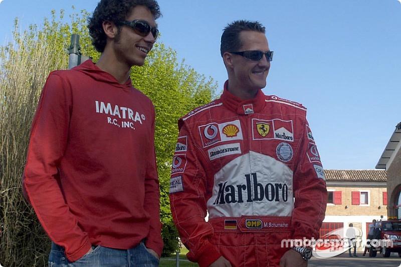 """Les chronos de Rossi chez Ferrari avaient """"étonné"""" Schumacher"""
