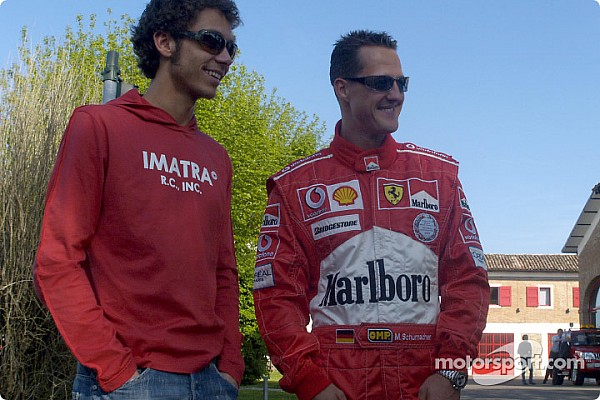 Tempos de Rossi com a Ferrari impressionaram Schumacher