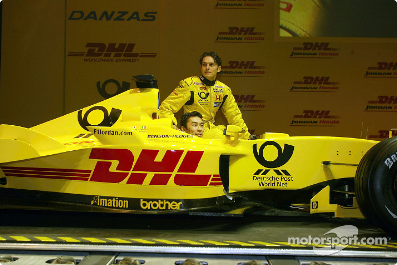 Takuma Sato ve Giancarlo Fisichella ve yeni Jordan Honda EJ12