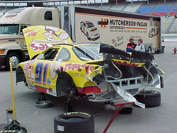Rick Bickle's wrecked car