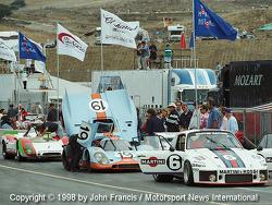 Porsche sur la ligne des stands