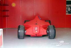 Ferrari in garage