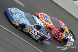 Todd Bodine races with Ricky Craven.