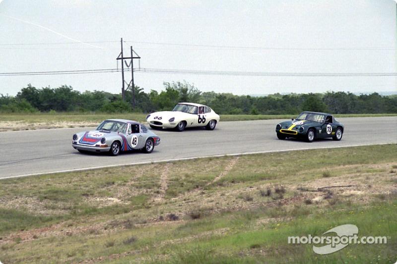 A Porsche, Jaguar, and TVR do battle