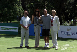 Barrichello and Ronaldo playing golf in Monte-Carlo