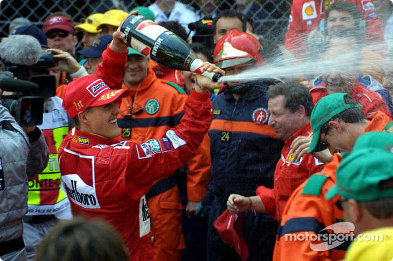 Champagne for Michael Schumacher