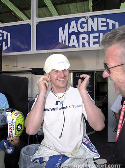Ralf Schumacher, Williams, mit Manager Willy Webber