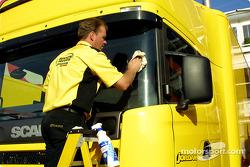 Cleaning the Jordan truck
