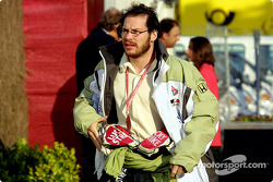 Jacques Villeneuve in the paddock