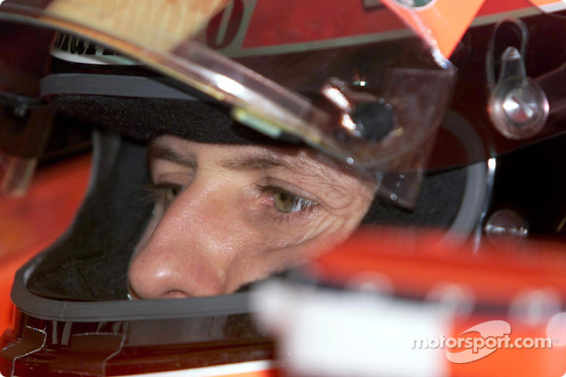 Michael Schumacher before the race